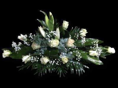 Krepšelis su rožėmis